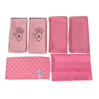 Pakket microvezeldoeken sanitair (rood-roze)