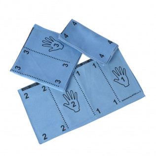 Pak 10 x Dustswipe blauw met vouwtechniek op 2 zijden (8+2 gratis)
