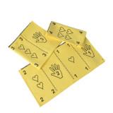 Pakket 10 x Dustswipe geel met vouwtechniek op 2 zijden (8+2 gratis)