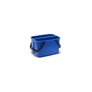 Emmer met 2 vakken, blauw - 2 x 10 L