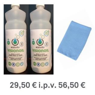 PROMO: 2 x Visionoil 1L + 1 sproeikop en Handswipe blauw