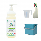 met 1 FOR ALL - SO SENSITIVE 1L, met groene emmer 6L, maatbeker 500 ml en groene verstuiver