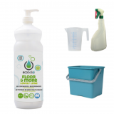met FLOOR & MORE - LOVELY LIME 1L, emmer 6L groen, maatbeker 500 ml en verstuiver