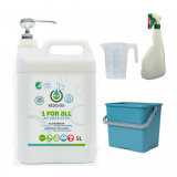 met 1 FOR ALL - SO SENSITIVE 5L, emmer 6L groen, maatbeker 500 ml en verstuiver