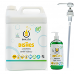 The Dishes 5L + dispenser leeg 500 ml + doseerpomp 25ml - voorlopig niet op stock