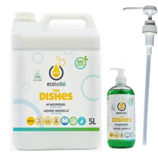The Dishes 5L + dispenser leeg 500 ml + doseerpomp 25ml - voorlopig niet op stock