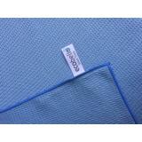 Pakket 10 x Glass Towel Waffle Blauw + 2 x Glasswipe blauw